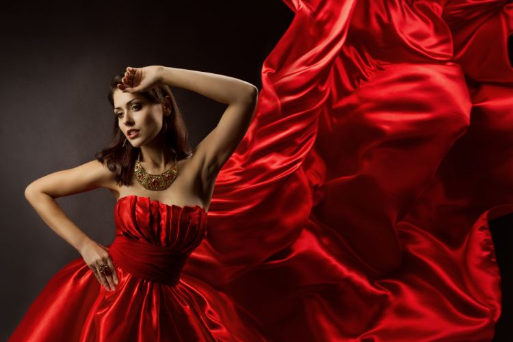 girl hands face beautiful dress woman hair eyes lips beauty lady female lovely hand sensual red red dress sweet pretty wallpaper