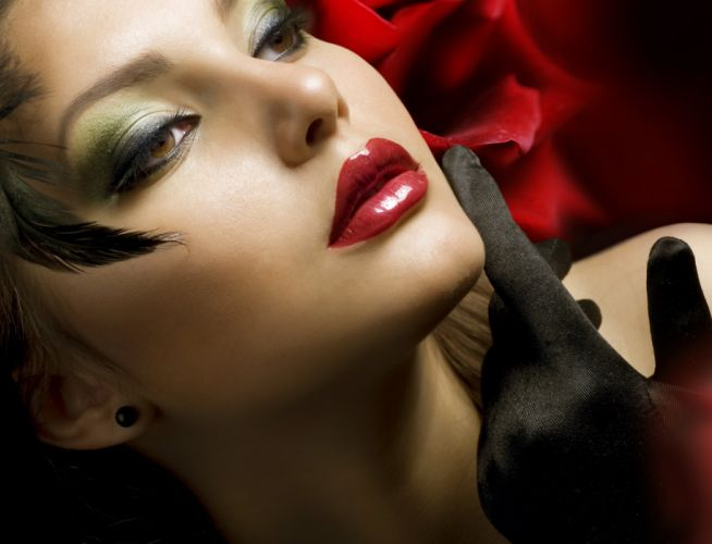 sensual red glove fantastic black woman dreamy hair dreaming fashion pretty photo female hot yas girl cute photography rose close up lovely she elegant beautiful said other make up makeup models people lola sexy beauty lady seductive face make-up gloves m wallpaper