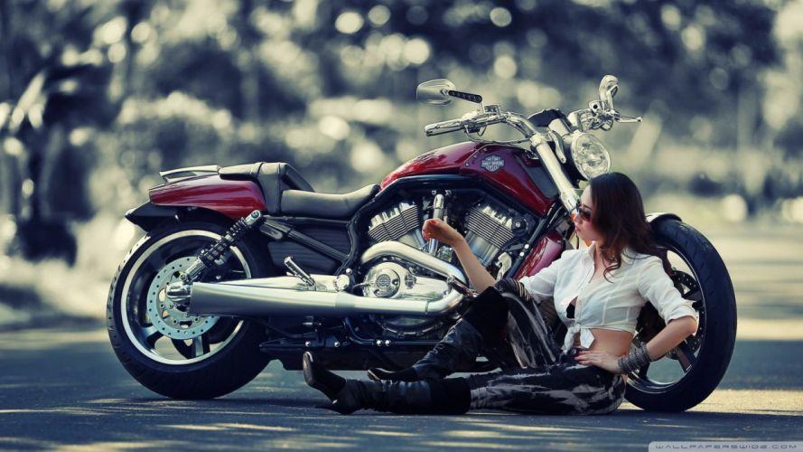 girl motorcycle-wallpaper-2048x1152 wallpaper