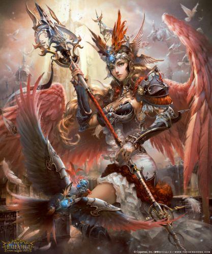 red wings warrior angel bird animal game wallpaper