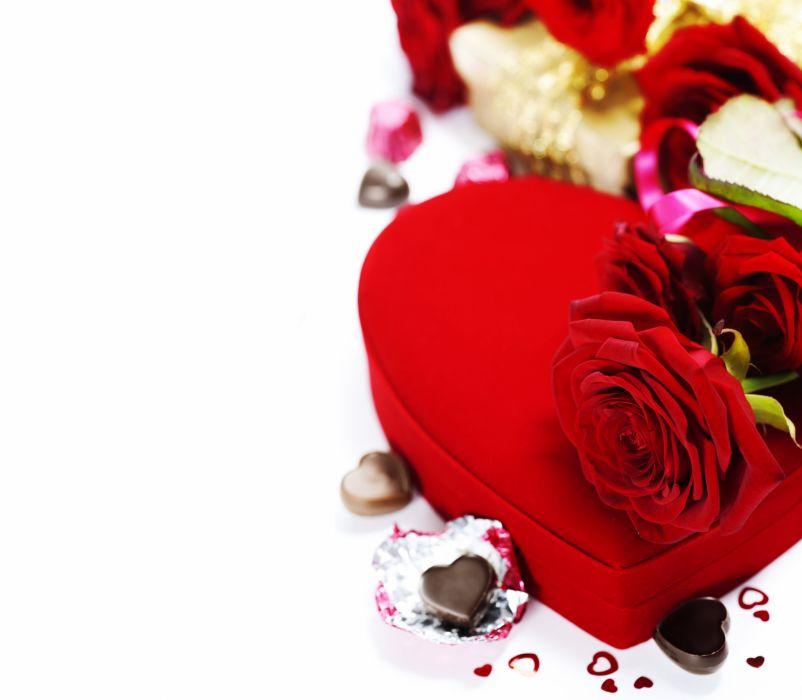 Flower Red Decoration Composition Heart Rose Romantic Love Design