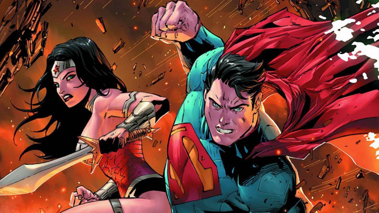 After Doom Superman And Wonder Woman Wallpaper 2560x1440