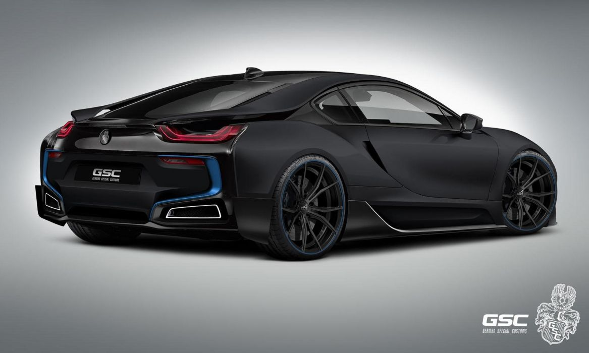 German Special Customs BMW-i8 iTRON tuning electric coupe cars supercars wallpaper