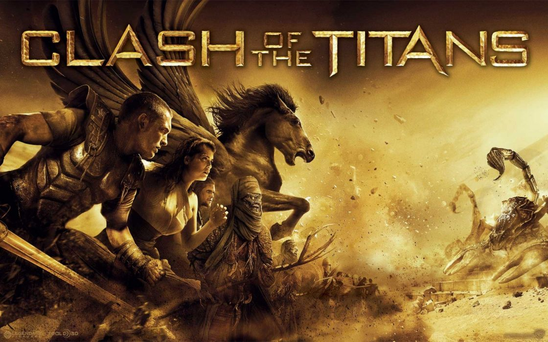 CLASH OF THE TITANS fantasy action adventure wallpaper