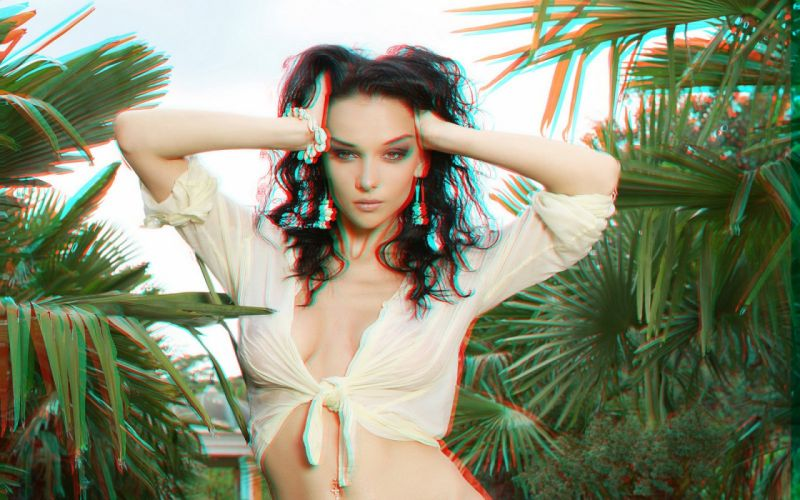 STEREOSCOPIC-3D girls babes wallpaper