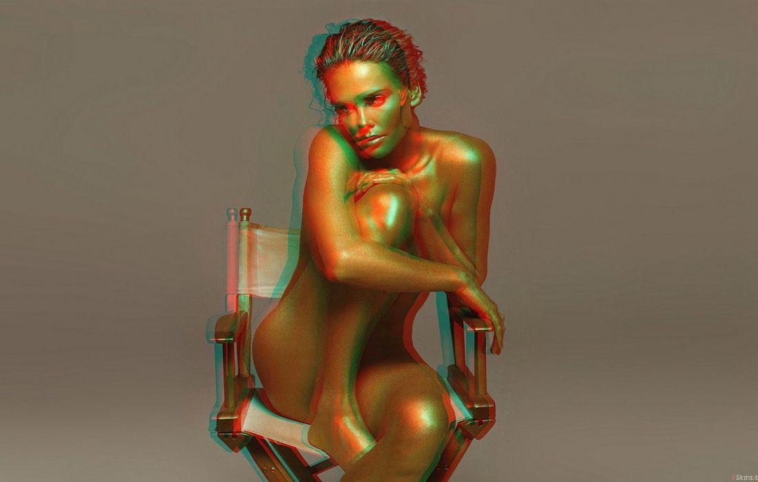 STEREOSCOPIC-3D girls babes wallpaper