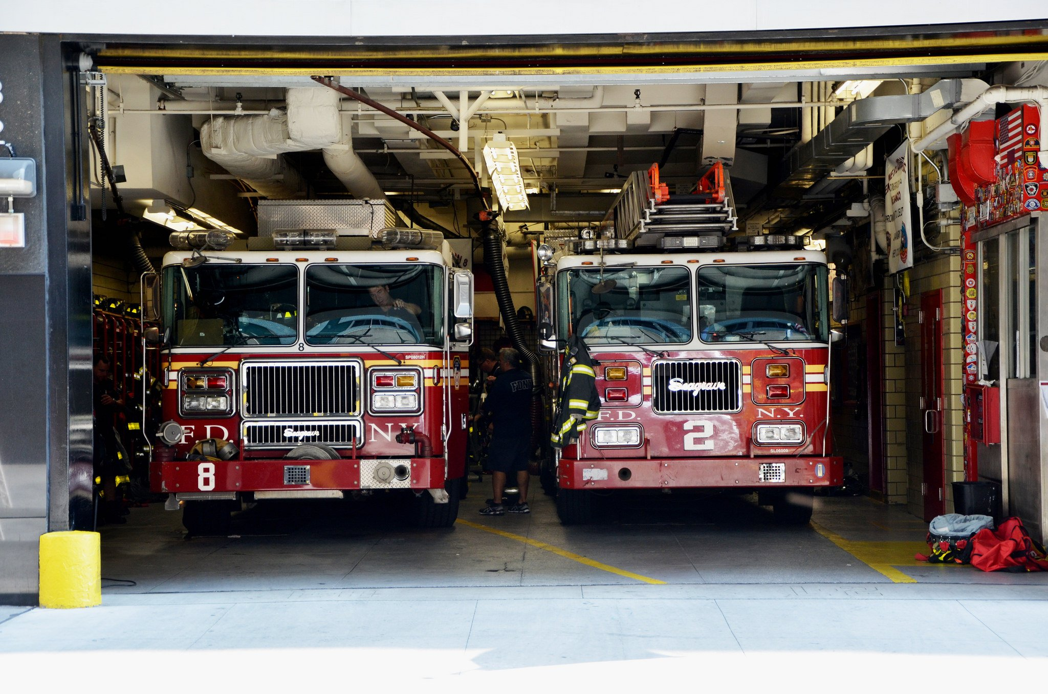 Ambulance camion cars boat emergency fire fire-departments fire truck medic new-york F D N Y ...