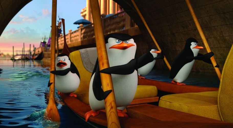 PENGUINS OF MADAGASCAR animation comedy adventure family penguin cartoon wallpaper