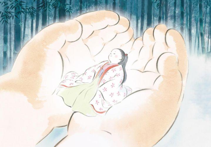 Tale Of The Princess Kaguya animation drama fantasy asian cartoon Monogatari wallpaper