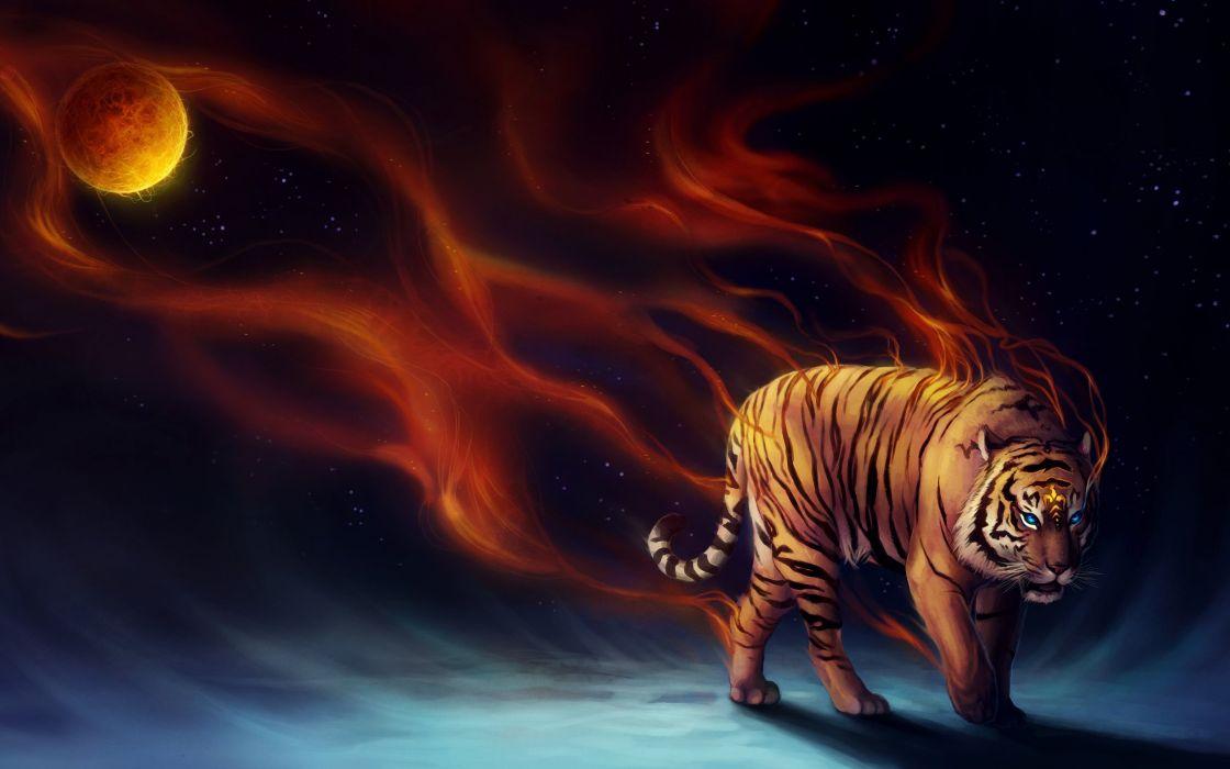 power tiger-2880x1800 wallpaper