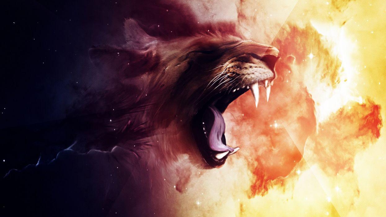 roaring lion-2560x1440 wallpaper