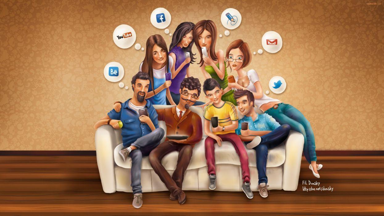 social media-2560x1440 wallpaper