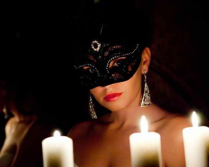 Woman Mask Candle Wallpaper