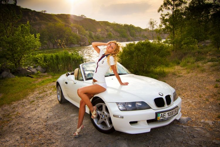 BMW Z3 blonde cars model car wallpaper