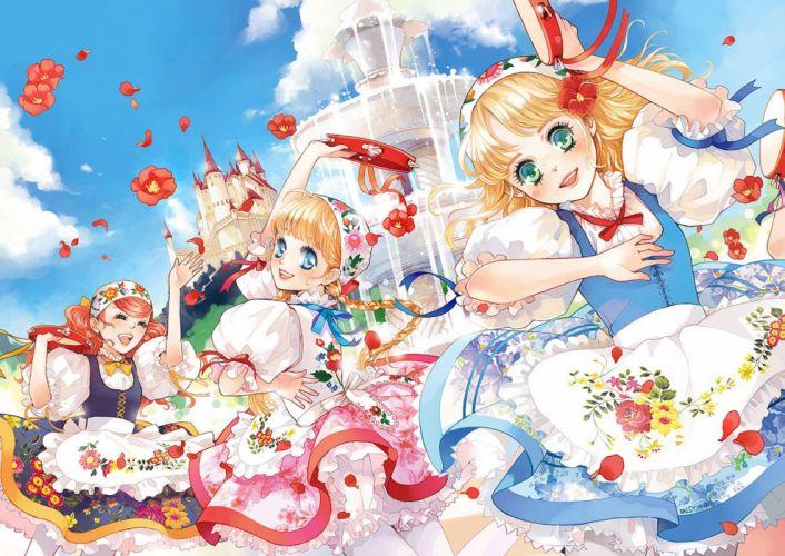 """flower girls sky """"dress daisy dance musical instrument wallpaper"""