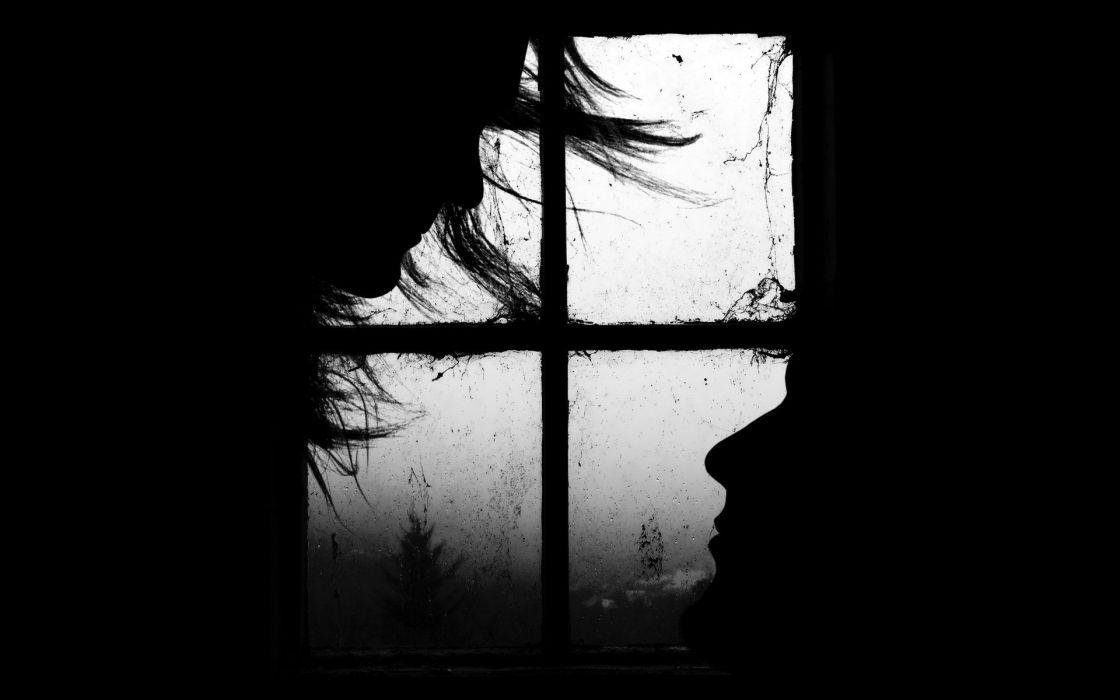 BLACK END WHITE - faces window wallpaper