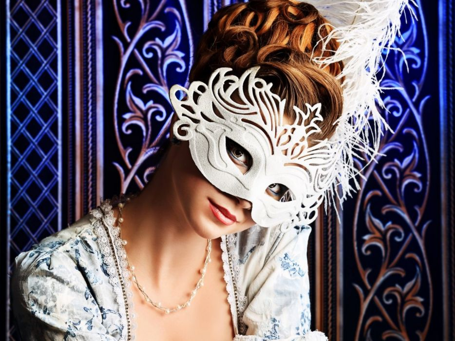 mask style model woman wallpaper