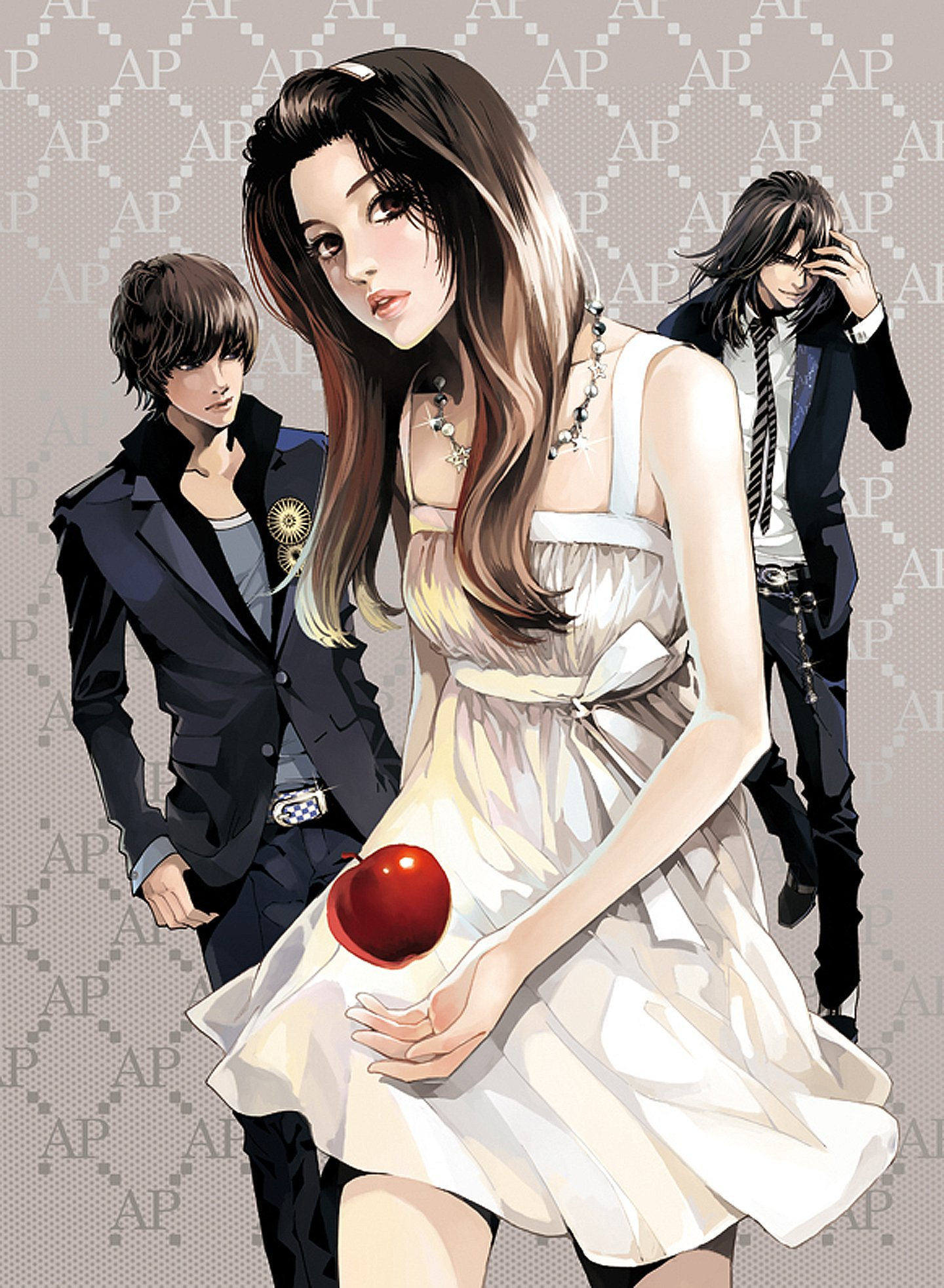 Apple Red Beautiful Girl Boys Black Suit Dress Couples Pretty Anime Wallpaper 1440x1965 478660 Wallpaperup