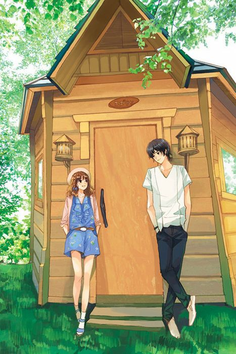 forest tree couple girl boy home love short hair pink wallpaper