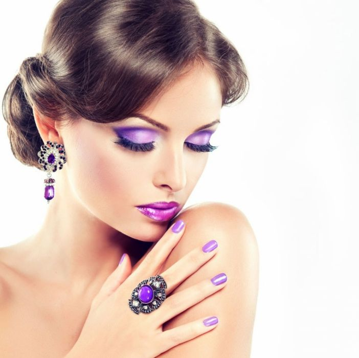 Makeup model lilac lady wallpaper