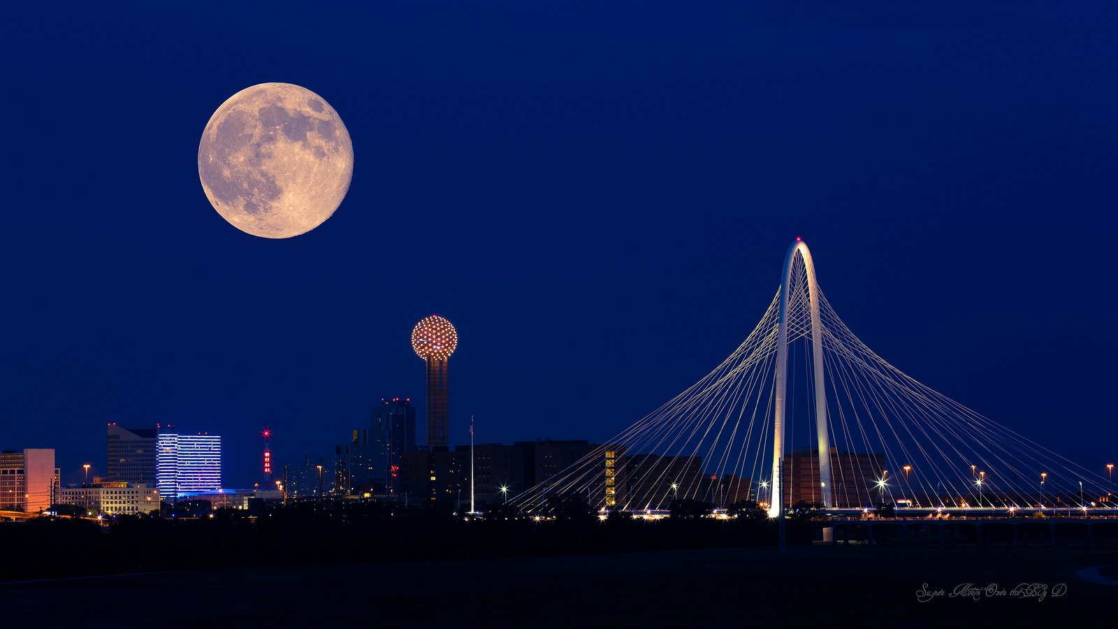 Dallas architecture bridges cities City texas Night towers buildings HD Wide Wallpaper for Widescreen