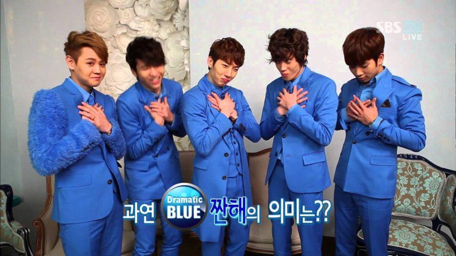 DRAMATIC BLUE kpop pop k-pop d wallpaper