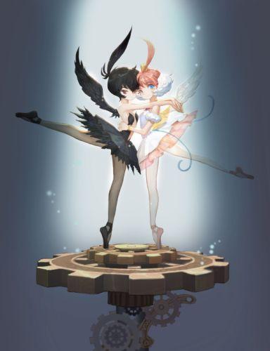 Princess Tutu feather dance dress wings smile wallpaper