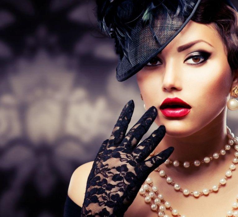 pearls face pretty lady wallpaper