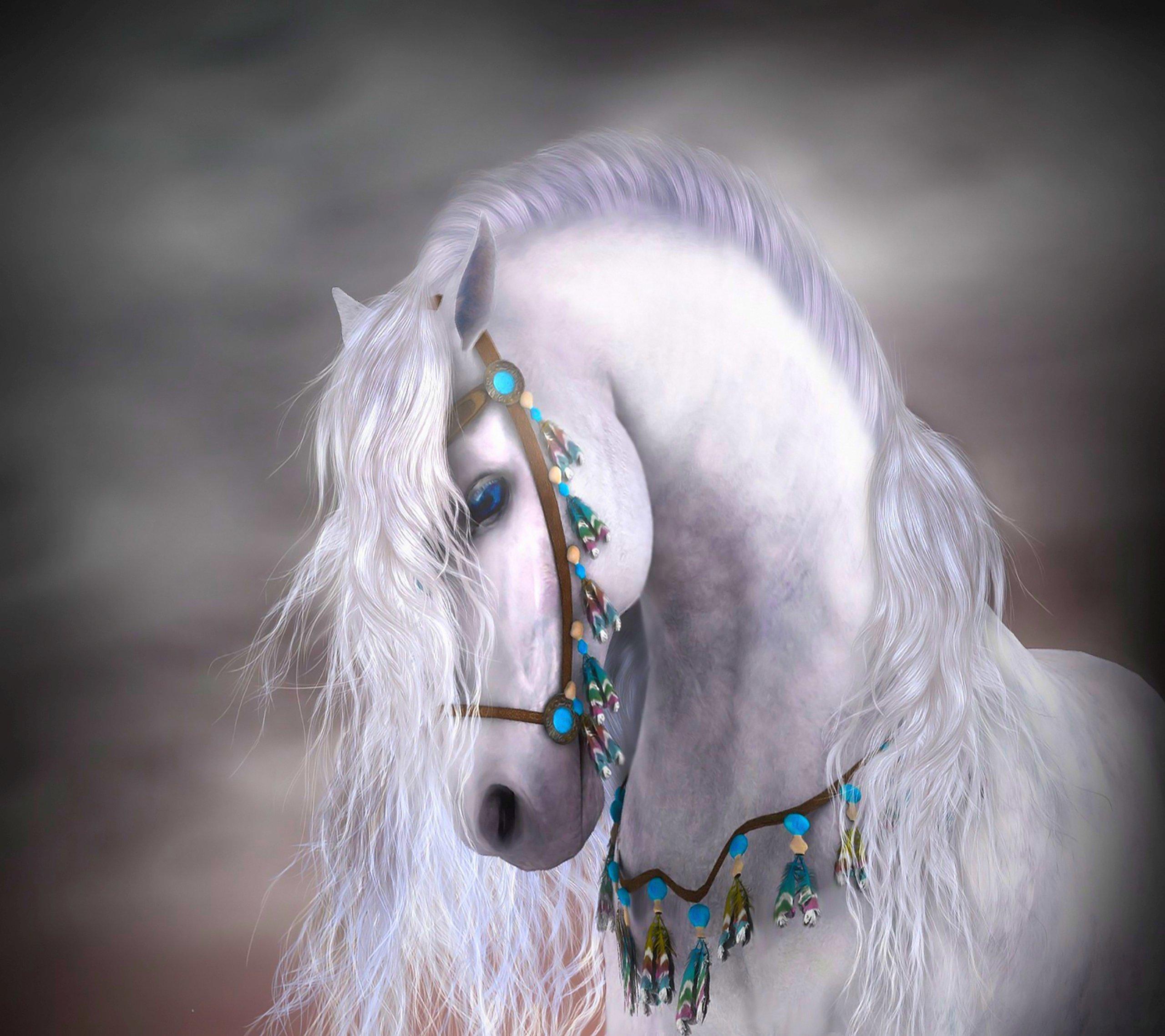 Horses fast art wallpaper running desktop draft horse ...