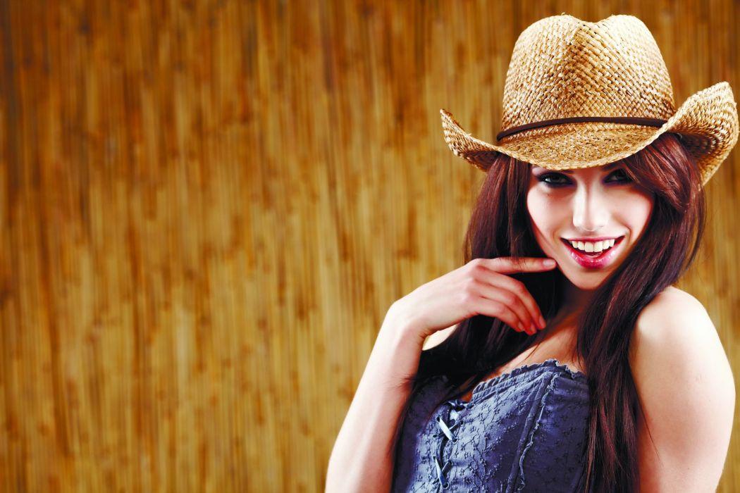 redhead hat female girl cowgirl woman wallpaper