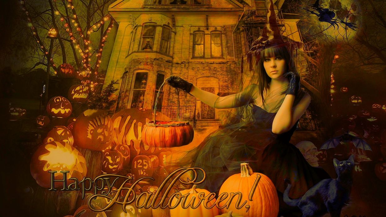 Halloween Gothic Witch Wallpaper 2560x1440 479862 Wallpaperup