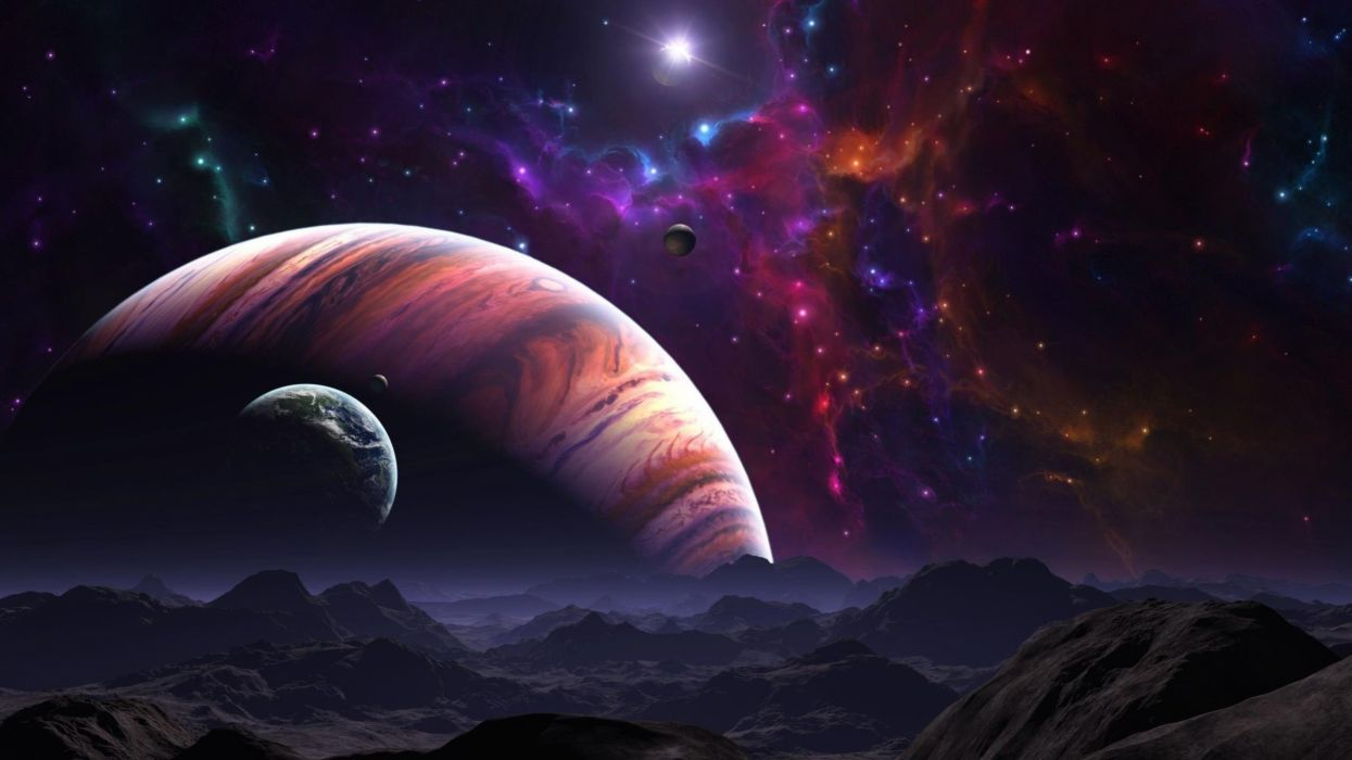 Space planet galaxy planets star stars univers wallpaper 2560x1440 480210 wallpaperup - Galaxy and planets ...