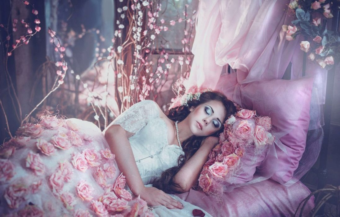 pretty model pink beauty wallpaper