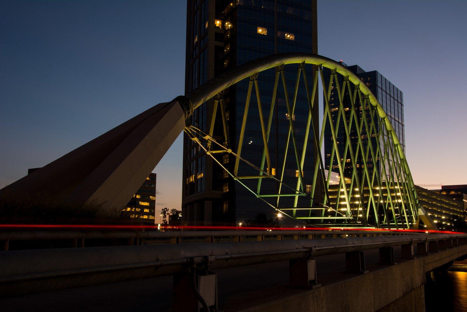 houston architecture bridges cities city texas night towers