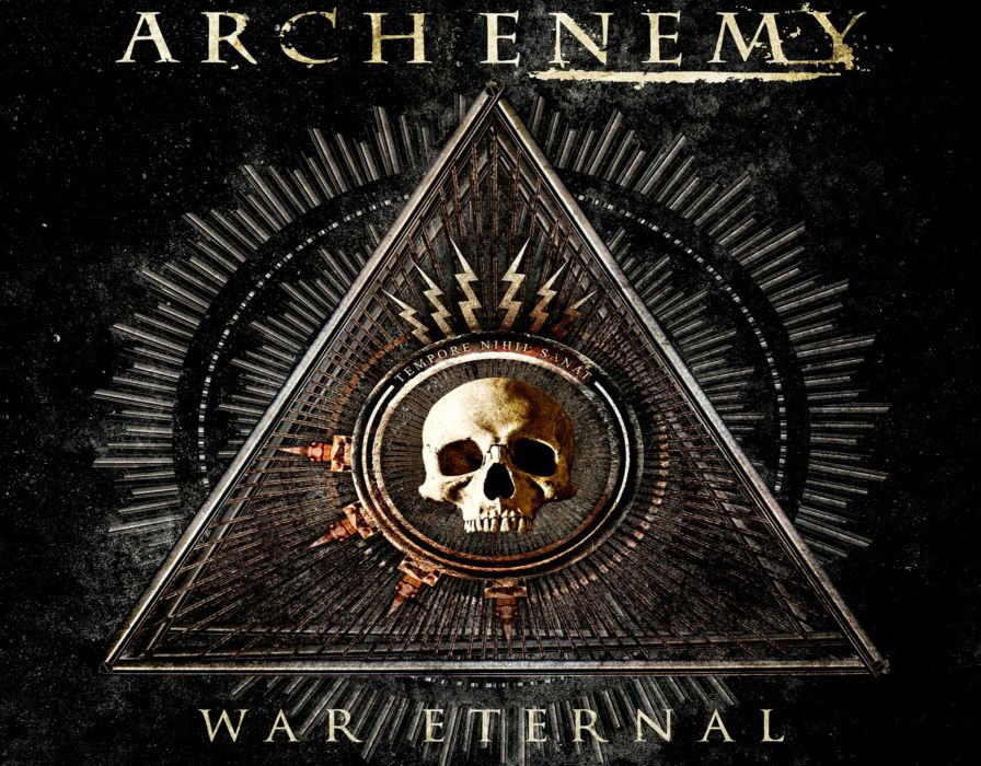 ARCH ENEMY death metal progressive heavy dark skull wallpaper