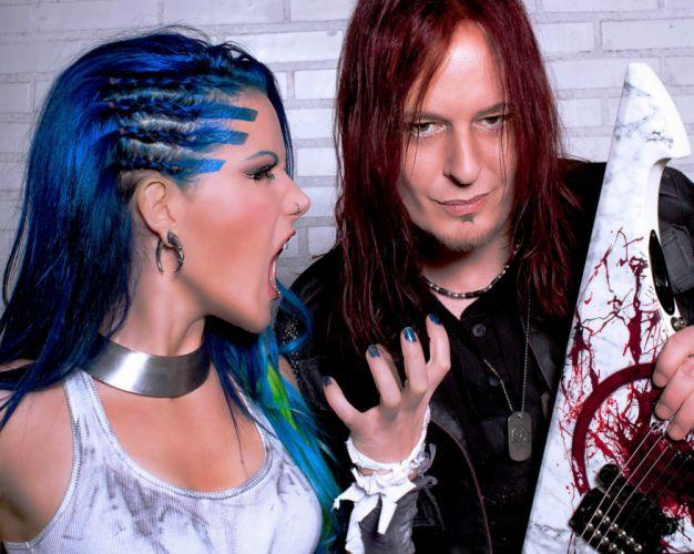 ARCH ENEMY death metal progressive heavy babe guitar wallpaper