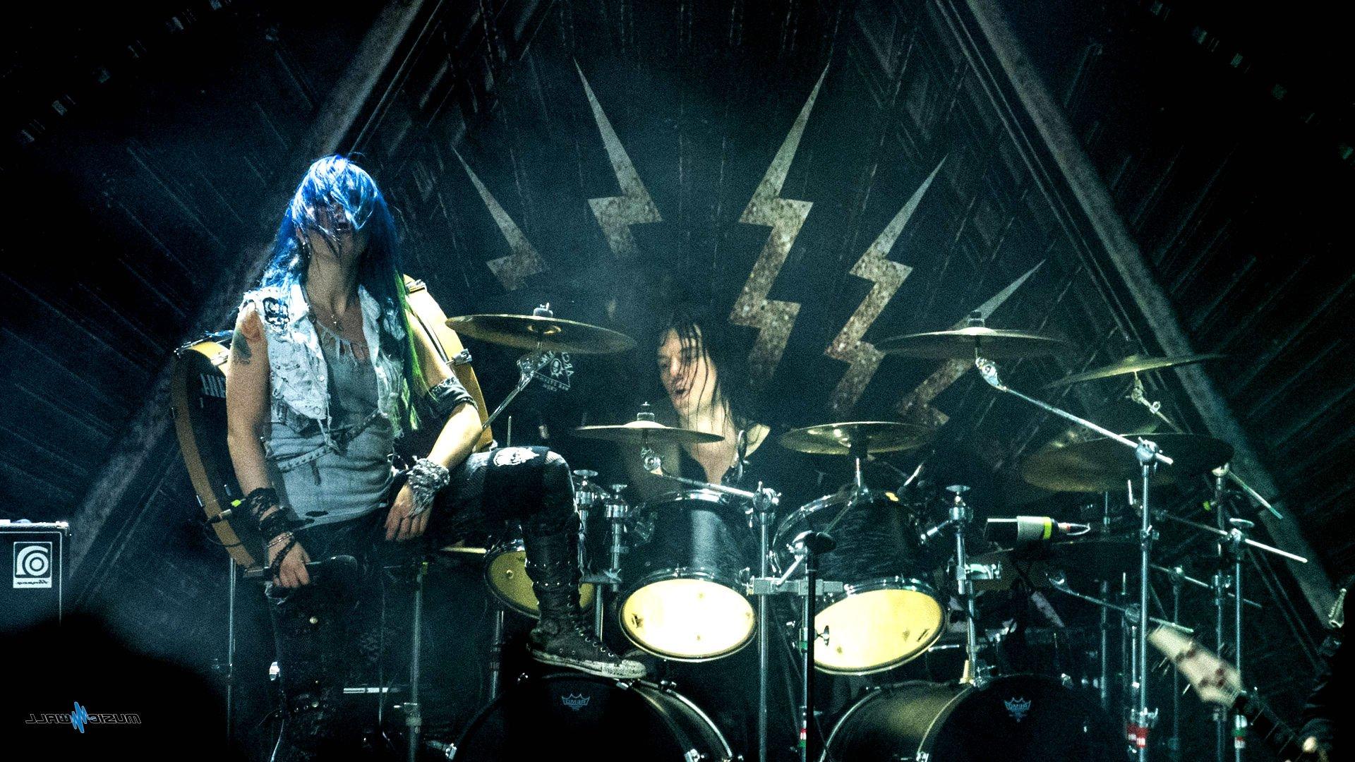 Arch Enemy Death Metal Progressive Heavy Babe Drums Concert