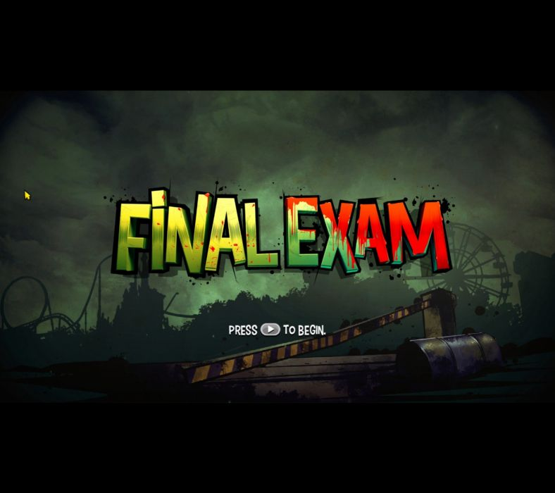 FINAL EXAM scrolling shooter platform fighting wallpaper