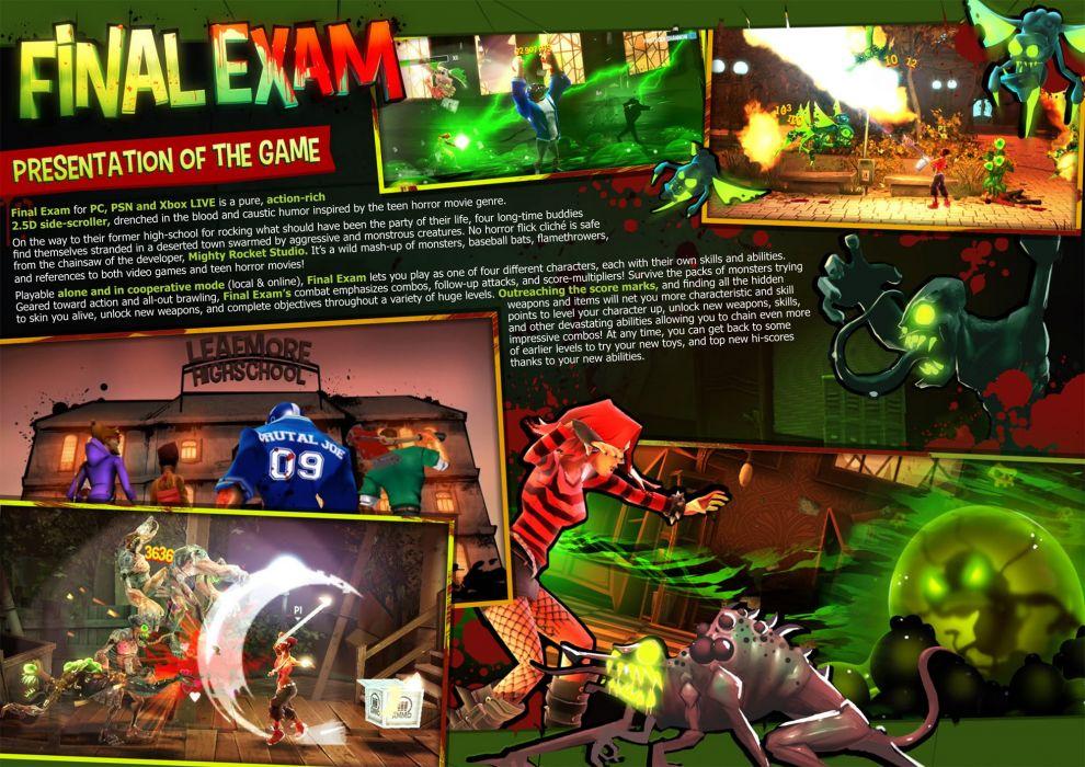 FINAL EXAM scrolling shooter platform fighting wallpaper