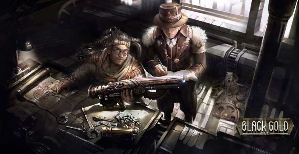 BLACK GOLD ONLINE steampunk fantasy sci-fi mmo rpg wallpaper