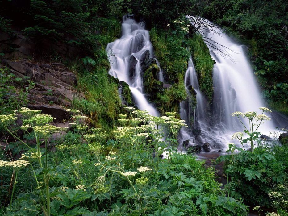 Waterfall river nature wild beautiful water wallpaper