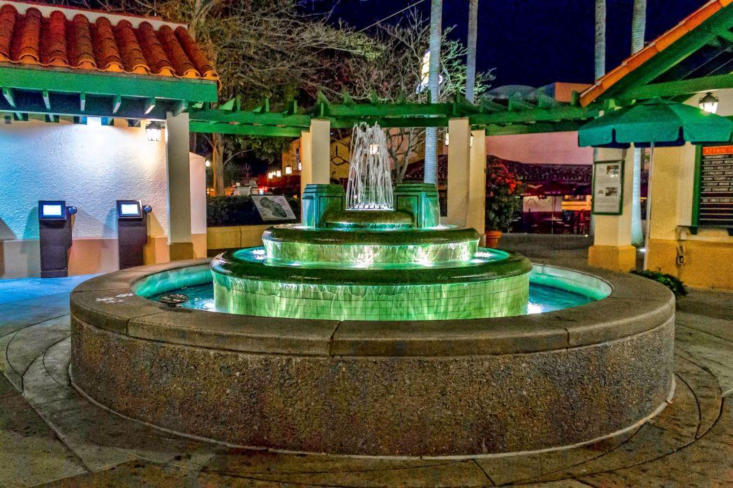 Walt-Disney World Resort Disney Orlando floride Florida USA universal studio castel hotel mickey night light stores Entertainment parc childrens offices storehouses towers buildings cities City-Walk carousel wallpaper