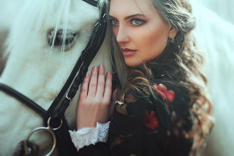 pretty model lady beauty beautiful horse wallpaper