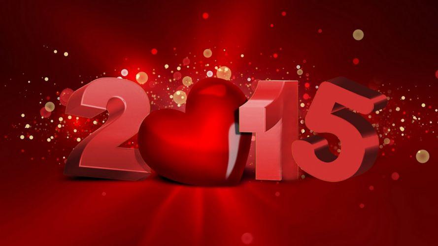 2015 heart red wallpaper