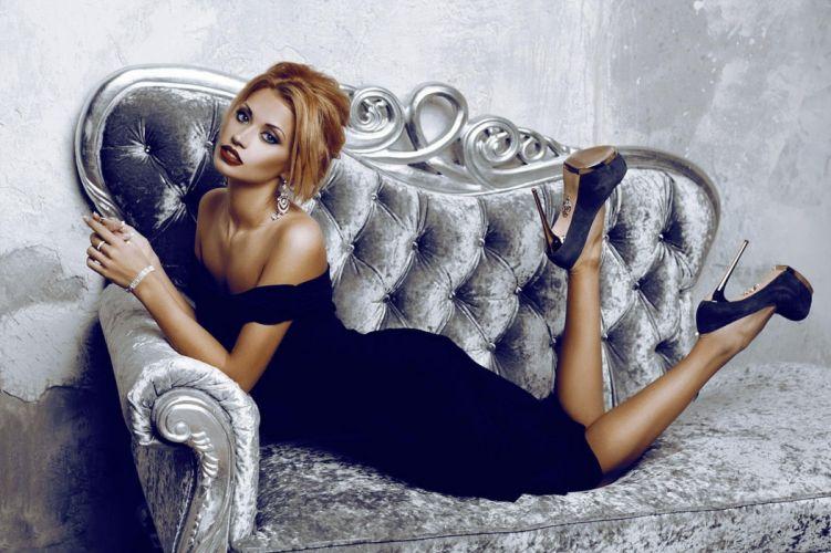 blonde dress model woman wallpaper