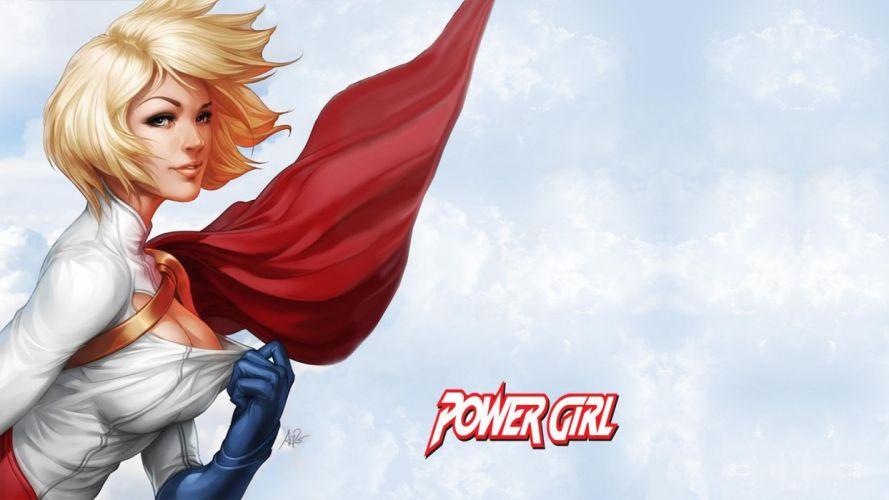 Powergirl dc comics wallpaper
