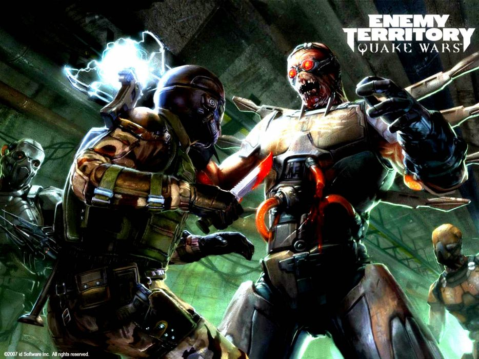 ENEMY TERRITORY online strategy fighting shooter sci-fi military wallpaper