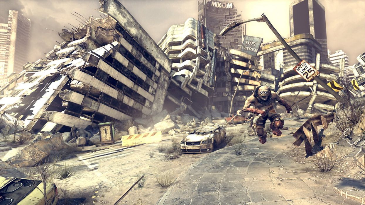 RAGE shooter sci-fi apocalyptic action adventure fighting wallpaper