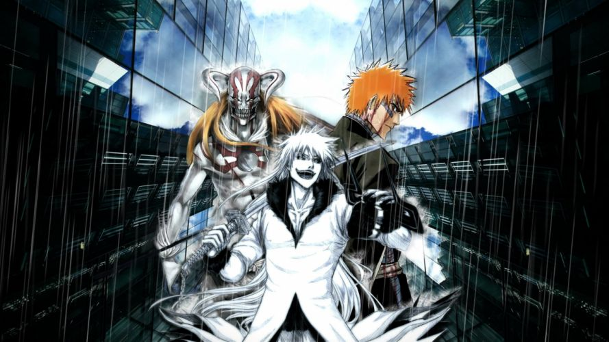 horrow anime series bleach ichigo dark devil wallpaper