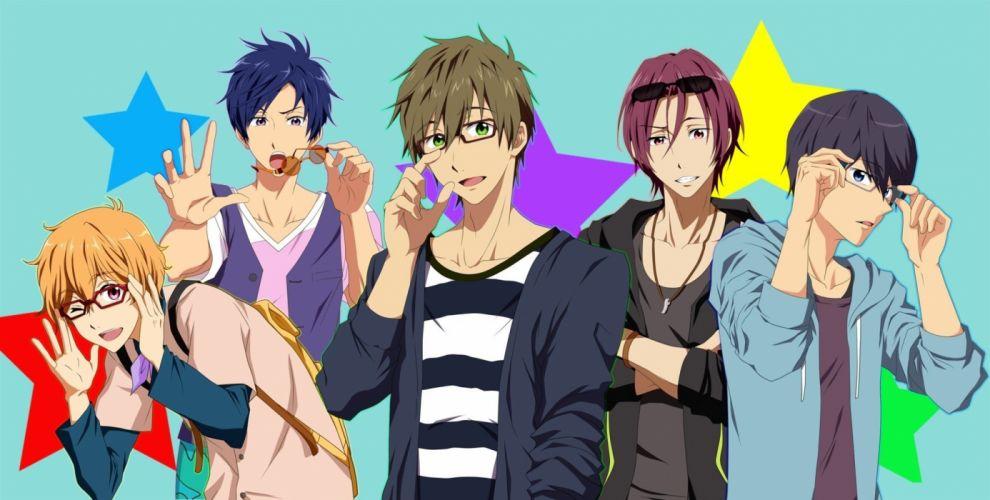 anime series free boys cool megane glasses Handsets wallpaper